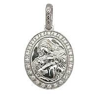 Серебряная подвеска-иконка Божией матери 3740-р, фото 1