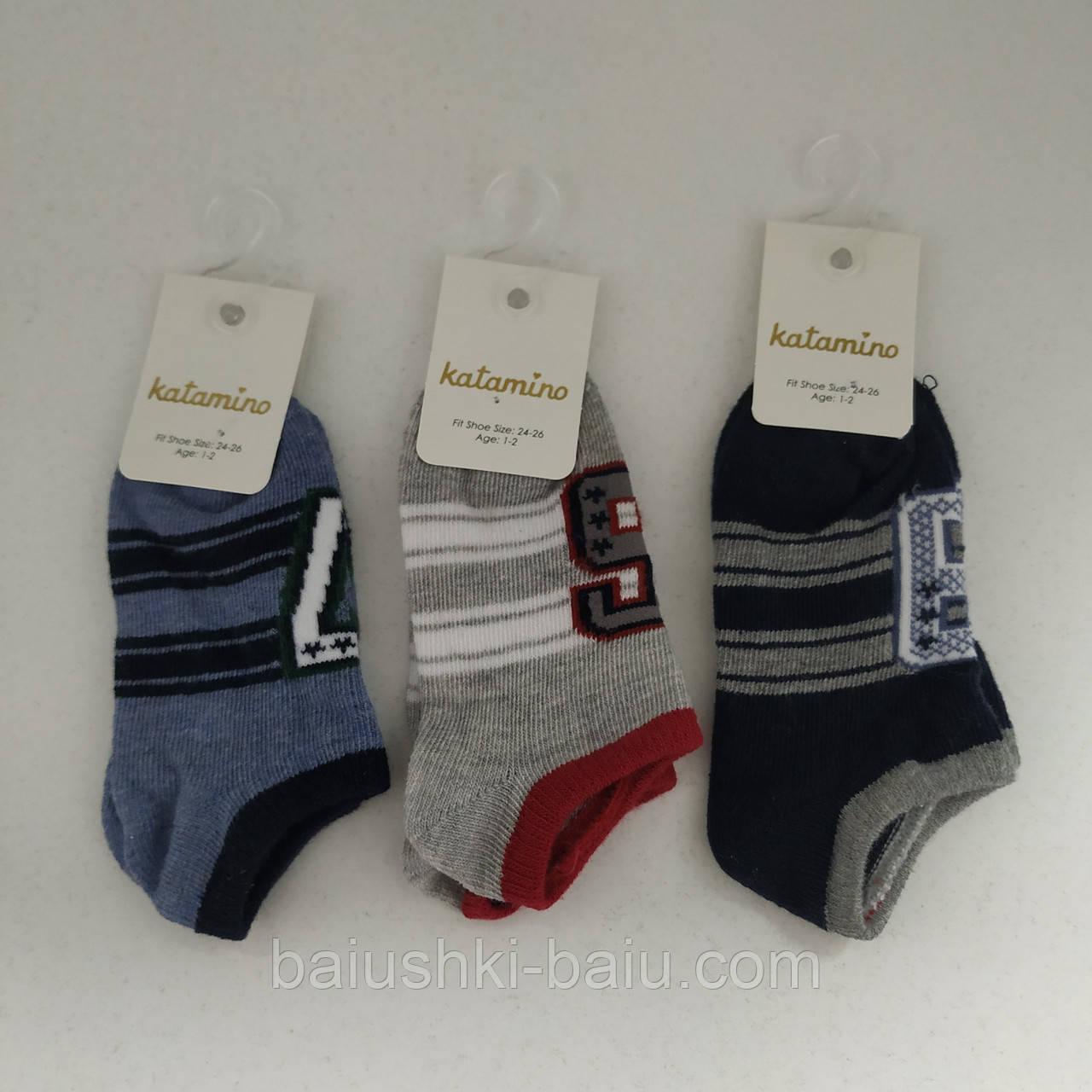 Детские короткие носки для мальчика, р. 1-2 года, Турция