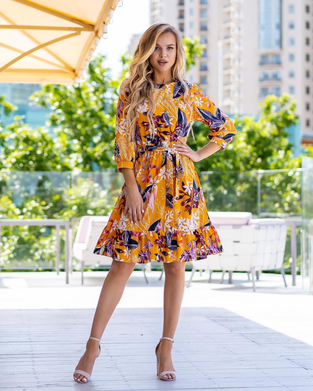 Літній молодіжне плаття з софта розміри 44-46,48-50,52-54