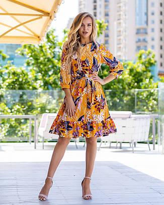 Літній молодіжне плаття з софта розміри 44-46,48-50,52-54, фото 2