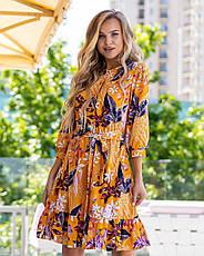 Літній молодіжне плаття з софта розміри 44-46,48-50,52-54, фото 3