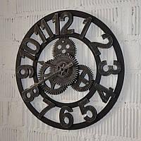"""Настінний годинник """"Silver gears"""" (40 см.), фото 1"""