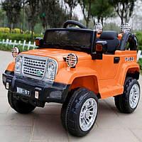 Детский электромобиль Jeep джип T-7838 Оранжевый