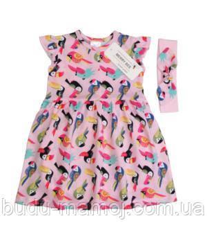 Боди платье летнее с повязкой для девочек 74 размер