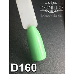 Гель-лак Komilfo №160 (салатовый, эмаль), 8 мл Истек строг годности