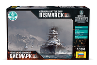 "Сборная модель ""Немецкий линкор Бисмарк"" (масштаб: 1/1200) Zvezda (9204), фото 1"