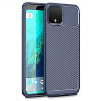 IPaky Google Pixel 4 Carbon Series Blue Чехол Накладка Бампер