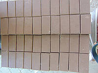 Тротуарна плитка кирпич 3см, кольорова, фото 1