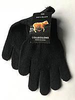 Перчатки детские трикотажные вязаные dar and black collecilons one size черный #S/H