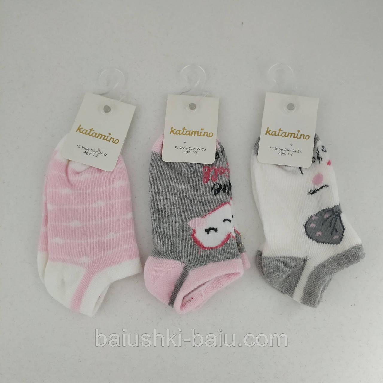 Носки детские короткие для девочки, 1-2 года, Турция