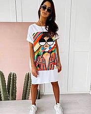 Легке трикотажне плаття-футболка розміри 44,46,48, фото 2