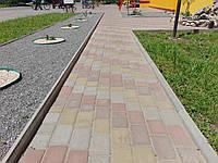 Тротуарна плитка старе місто 4см, кольорова