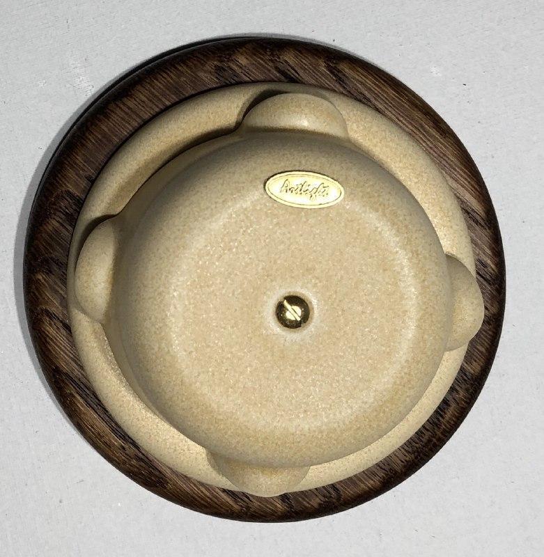 Ретро распределительная коробка фарфоровая Artlight, Lux Cream, фурнитура бронза, никель