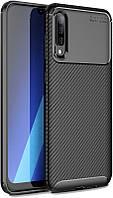 Чехол-накладка TOTO TPU Carbon Fiber 1,5mm Case Samsung Galaxy A30s/A50/A50s Black #I/S, фото 1
