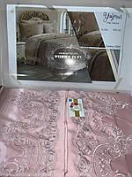 Покрывало с наволочками kubra class полиэстер yagmur 240*250 см+ 50*70 (2) розовый #S/H