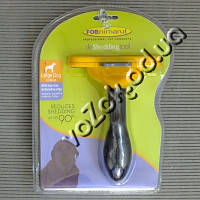 Фурминатор для больших собак с короткой шерстью FURminator Short Hair Large Dog deShedding 10см c кнопкой, фото 1