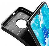 IPaky Nokia 6.2/ 7.2 Carbon Series Black Чехол Накладка Бампер, фото 3