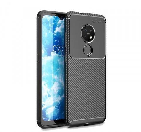 IPaky Nokia 6.2/ 7.2 Carbon Series Black Чехол Накладка Бампер