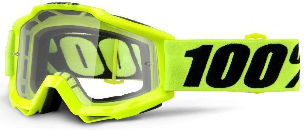 Мото окуляри 100% Accuri Goggle Fluo Yellow - Clear Lens
