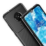IPaky Nokia 6.2/ 7.2 Carbon Series Black Чехол Накладка Бампер, фото 4