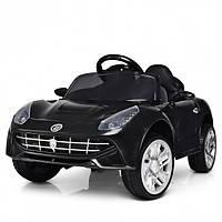 Детский электромобиль Машина Ferrari M 3176EBLR-2 черный для девочки мальчика  2 3 4 5 6 лет машинка Феррари