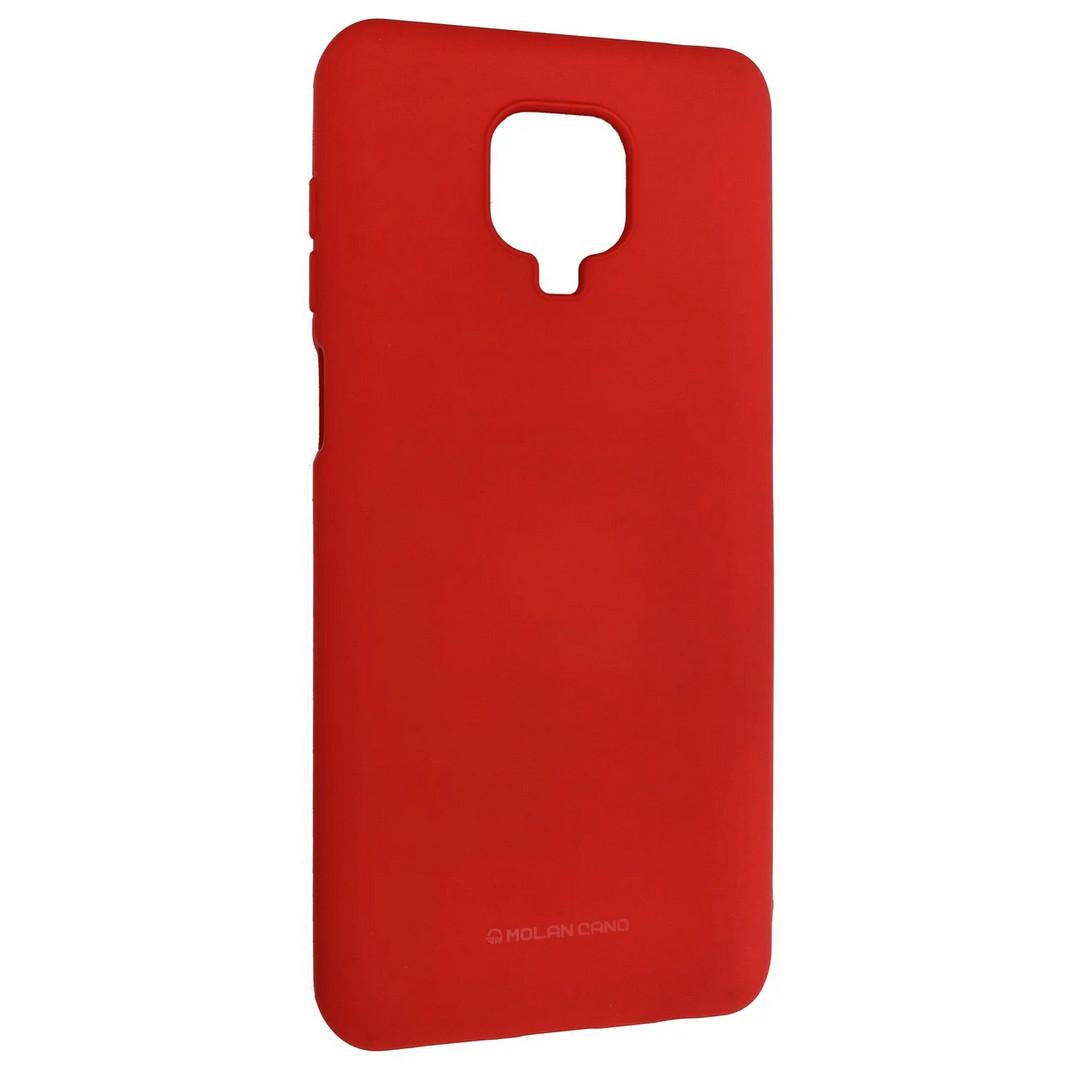 Силиконовый чехол Molan Cano для Xiaomi Redmi Note 9S, красный