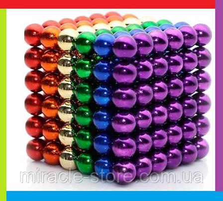 Кольоровий неокуб, Іграшка антистрес, головоломка, магнітний конструктор Неокуб, фото 2
