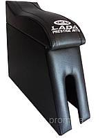 Підлокітник ВАЗ 2105, ВАЗ 2107 (вигнутий, з логотипом, чорний)