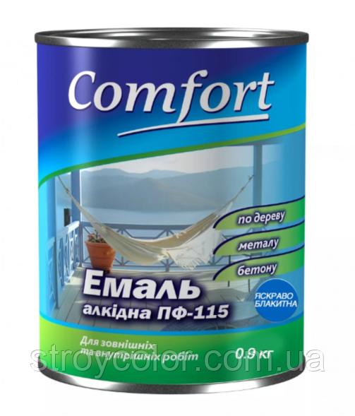 Эмаль алкидная Ярко-голубая ПФ-115 Comfort 0.9 кг (Краска комфорт)