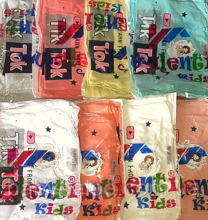"""Красивая футболка  для девочки """"Tik-tok"""" (от 5 до 8 лет), фото 2"""