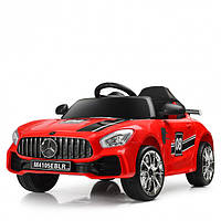Детский электромобиль Машина Mercedes M 4105EBLR-3 красный для девочки мальчика 3 4 5 6 7 8 лет Мерседес