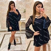CDM-2731 Модное короткое шифоновое платье