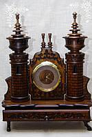 Годинник дерев'янний для робочого стола горіх ручної роботи