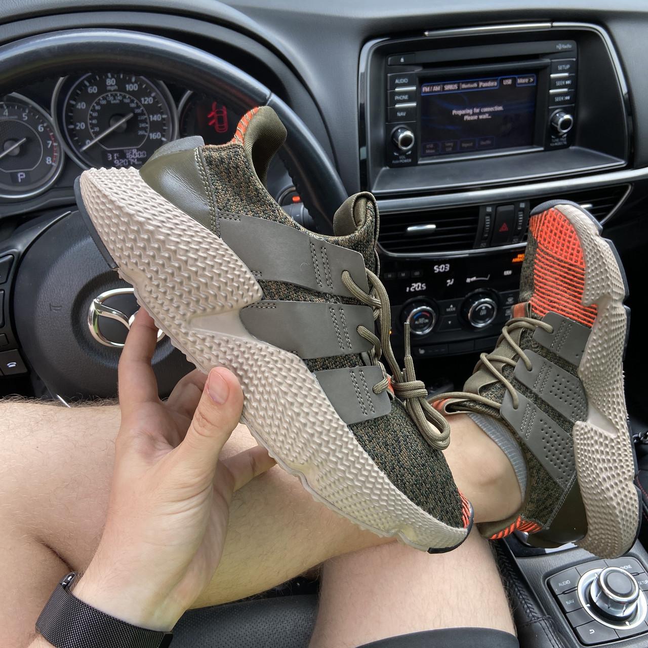Мужские кроссовки Adidas Prophere Green Orange, мужские кроссовки адидас профер
