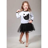 """Платье для девочек. Размер: 98. серый. TM """"VIDOLI"""" G-17052W-1. Украина."""