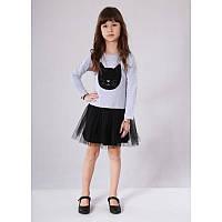 """Платье для девочек. Размер: 158. серый. TM """"VIDOLI"""" G-17047-2W1. Украина."""