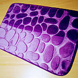 Плюшевый коврик «Галька» фиолетовый 50×80 см, фото 8