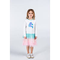 """Платье для девочек. Размер: 98. молочный. TM """"VIDOLI"""" G-20856W. Украина."""