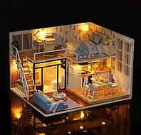 Румбокс миниатюрный сборный дом DIY House Blue Time