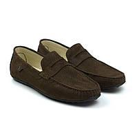 Коричневые летние мокасины нубук перфорированные мужская обувь Rosso Avangard ETHEREAL Arena Brown Nub Perf