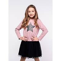 """Платье для девочек. Размер: 122. Темно-розовый,Черный. TM """"VIDOLI"""" G-19843W. Украина."""