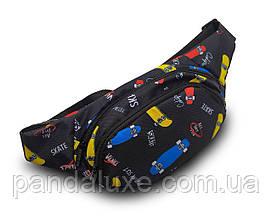 Поясная сумка бананка через плечо барыжка на пояс детская Скейты