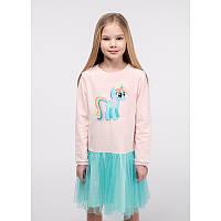 """Платье для девочек. Размер: 98. Мятный,Персиковый. TM """"VIDOLI"""" G-20845W. Украина."""