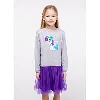 """Платье для девочек. Размер: 98. Серый,Фиолетовый. TM """"VIDOLI"""" G-20847W. Украина."""