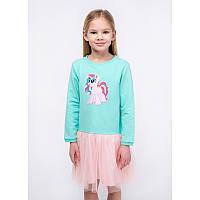 """Платье для девочек. Размер: 98. Мятный,Персиковый. TM """"VIDOLI"""" G-20849W. Украина."""