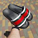 Мужские шлепанцы Чёрные с красным, фото 3