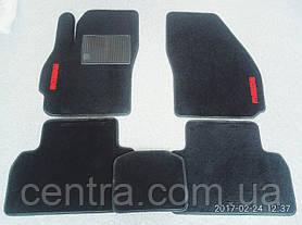 Текстильные коврики в салон на Mazda MPV 2006- три ряда Черные