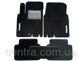 Текстильные коврики в салон на Nissan X-trail 2001-2007 Черные
