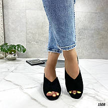 Босоножки сабо на каблуке, фото 3