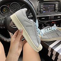 Женские кроссовки Adidas Superstar Blue, женские кроссовки адидас суперстар
